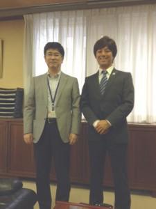 大和福岡市中央区長と冨田支部長